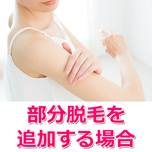 腕とヒザ下を追加するケース